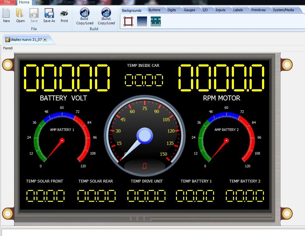 The new version of the Archimede 1.0 Display Control screen, ready to test the latest upgrade on the occasion of the transfer of the European Championship in Belgium (Zolder circuit) in September.
